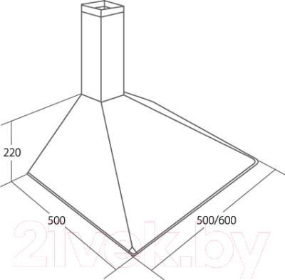 Вытяжка купольная Akpo Soft 60 WK-5 без короба (белый)