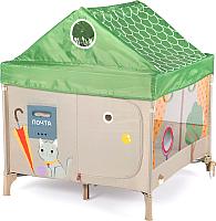 Игровой манеж Happy Baby Alex Home с лампой / 9300 (зеленый) -
