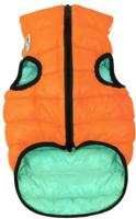 Куртка для животных AiryVest Lumi 2160 (S, оранжевый/салатовый) -