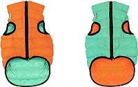 Куртка для животных AiryVest Lumi 2112 (XS, оранжевый/салатовый) -