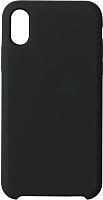 Чехол-накладка Volare Rosso Soft Suede для iPhone XS (черный) -