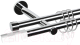 Карниз для штор АС ФОРОС Dance D19Г/19Г + наконечники Магнум белый (1.6м, хром) -