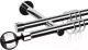 Карниз для штор АС ФОРОС Dance D19Г/19Г + наконечники Шар черный (2.4м, хром) -