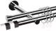 Карниз для штор АС ФОРОС Dance D19Г/19Г + наконечники Магнум черный (2.4м, хром) -