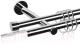 Карниз для штор АС ФОРОС Dance D19Г/19Г + наконечники Магнум белый (2.4м, хром) -