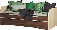 Кровать-тахта Мебель-КМК 800 Атланта 0741.18 (ясень шимо светлый/ясень шимо темный) -