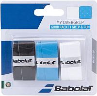 Овергрип Babolat My Overgrip X3 / 653045-164 (3шт, черный/синий/белый) -