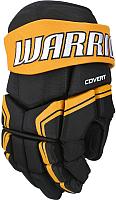 Перчатки хоккейные Warrior QRE3 / Q3G-BKO11 (черный/оранжевый) -