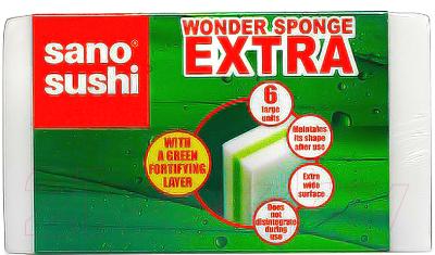 Расходный материал для уборки Sano Набор губок Wonder Sponge Extra