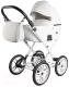 Детская универсальная коляска Ray Corsa Eco Classic 2 в 1 (15/белая кожа) -
