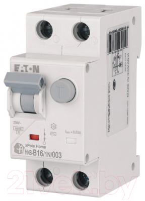 Дифференциальный автомат Eaton HNB-B16/1N/003 1P+N 16А В 6кА 30мА АС 2М / 195121