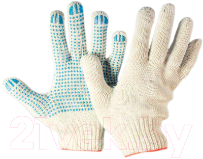 Перчатки защитные, 5 шт. Lihtar ПВХ-точка 7.5 класс