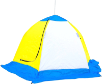 Палатка Стэк Elite 2-местная (белый/голубой/желтый) -