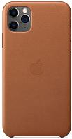 Чехол-накладка Apple Leather Case для iPhone 11 Pro Max Saddle Brown / MX0D2 -