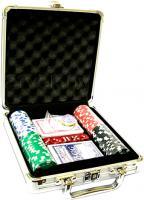 Набор для покера No Brand M-1 (в чемодане, 100 фишек) -
