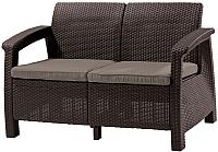 Диван садовый Keter Corfu Love Seat / 223214 (коричневый) -