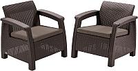 Комплект садовой мебели Keter Corfu Duo Set / 223194 (коричневый) -