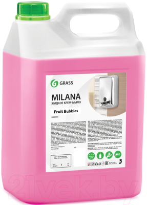 Мыло жидкое Grass Milana Fruit bubbles 125318 (5кг)