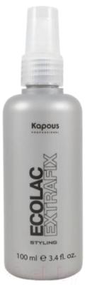 Лак для укладки волос Kapous Жидкий эколак экстра сильной фиксации kerastase лак couture styling laque noire нуар экстра сильной фиксации 300 мл