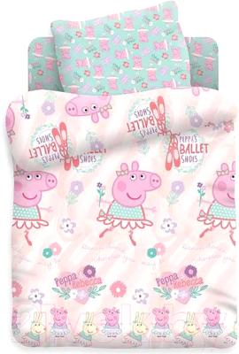 Комплект постельный в кроватку Непоседа Свинка Пеппа. Балерина Пеппа / 362268