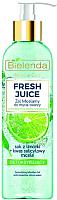 Мицеллярный гель Bielenda Fresh Juice детоксифицирующий лайм (190мл) -