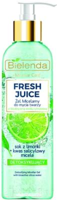 Мицеллярный гель Bielenda Fresh Juice детоксифицирующий лайм