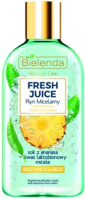 Мицеллярная вода Bielenda Fresh Juice осветляющая ананас (100мл)