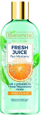 Мицеллярная вода Bielenda Fresh Juice увлажняющая апельсин