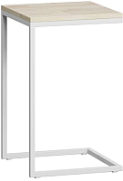 Приставной столик Loftyhome Бервин / BR020504 (натуральный с белым основанием) -
