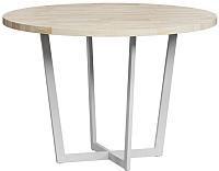 Обеденный стол Loftyhome Лондейл 4 / LD050404 (натуральный с белым основанием) -