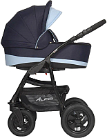 Детская универсальная коляска Riko Alfa 2 в 1 (03/голубой) -