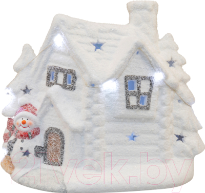Световая фигурка Neon-Night Домик со снеговиком 505-007