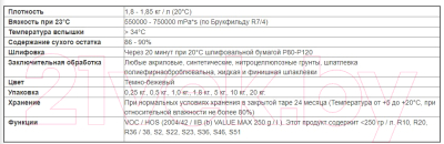 Шпатлевка автомобильная CS System Full / 85037 (1кг)