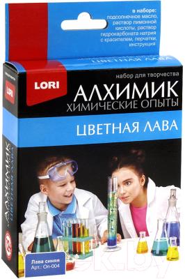 Набор для опытов Lori Химические опыты. Лава синяя / Оп-004