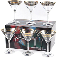 Набор бокалов Bohemia Crystal Olivia 40346/43249/210 (6шт) -