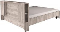 Двуспальная кровать Anrex Jazz 160 P с ПМ (каштан найроби) -