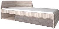Односпальная кровать Anrex Jazz 90 (каштан найроби/оникс) -
