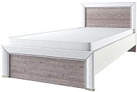 Односпальная кровать Anrex Olivia 90 (вудлайн кремовый/дуб анкона) -