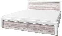 Двуспальная кровать Anrex Olivia 180 (вудлайн кремовый/дуб анкона) -