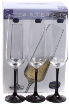 Набор бокалов Bohemia Crystal Sandra 40728/D4656/200 (6шт)