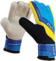 Перчатки вратарские Mitre Magnetite / G70008BCY (р-р 10, белый/голубой/желтый) -
