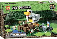 Конструктор Bela Minecraft Курятник / 10809 (204эл) -