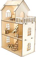 Кукольный домик Woody С мебелью / 02529 -