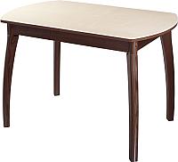 Обеденный стол Домотека Румба ПО 70x110-147х75 (бежевый/орех/07) -