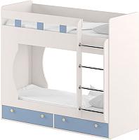 Двухъярусная кровать Славянская столица Д-КрД (белый/синий) -