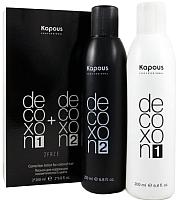 Набор косметики для волос Kapous Лосьон для коррекции цвета Decoxon 2 Faze (2x200мл) -