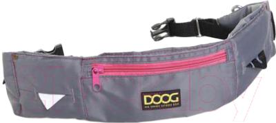 Сумка для дрессуры DOOG Maxi / WB17 (серый/розовый)