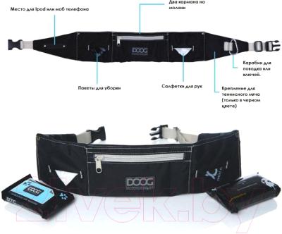 Сумка для дрессуры DOOG Maxi / WB05 (черный/серый)