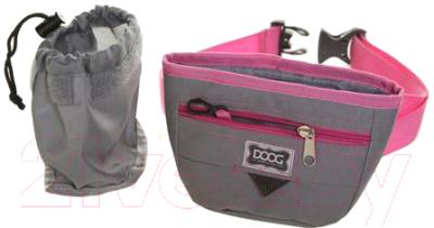 Сумка для дрессуры DOOG Medium / TP02b (серый/розовый)