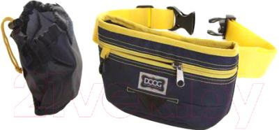Сумка для дрессуры DOOG Medium / TP01b (синий/желтый)